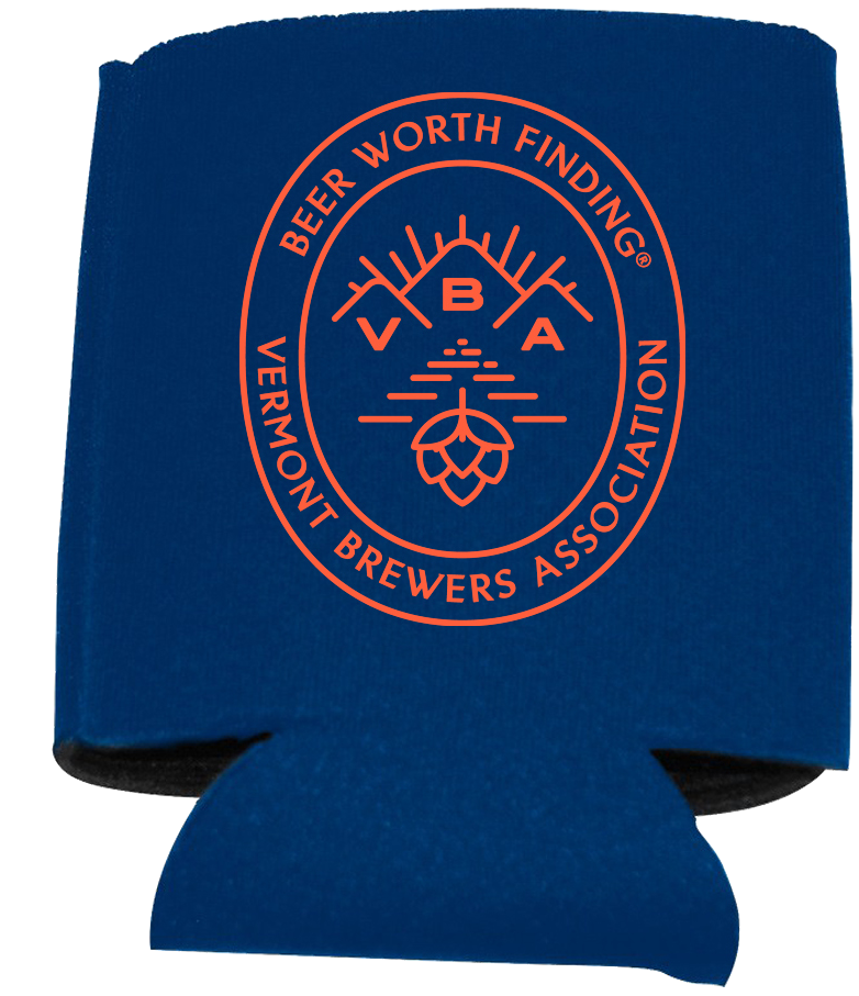VT Brewers VBA Branded Can Holder in Navy Blue