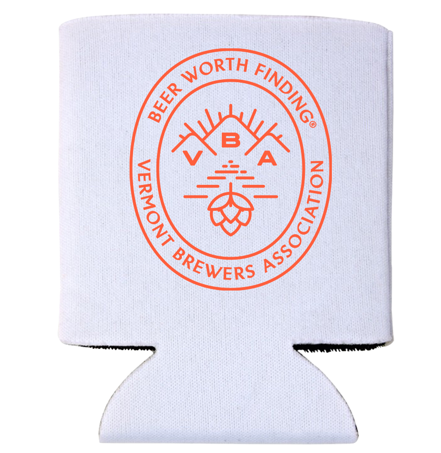 VT Brewers VBA Branded Can Holder in White