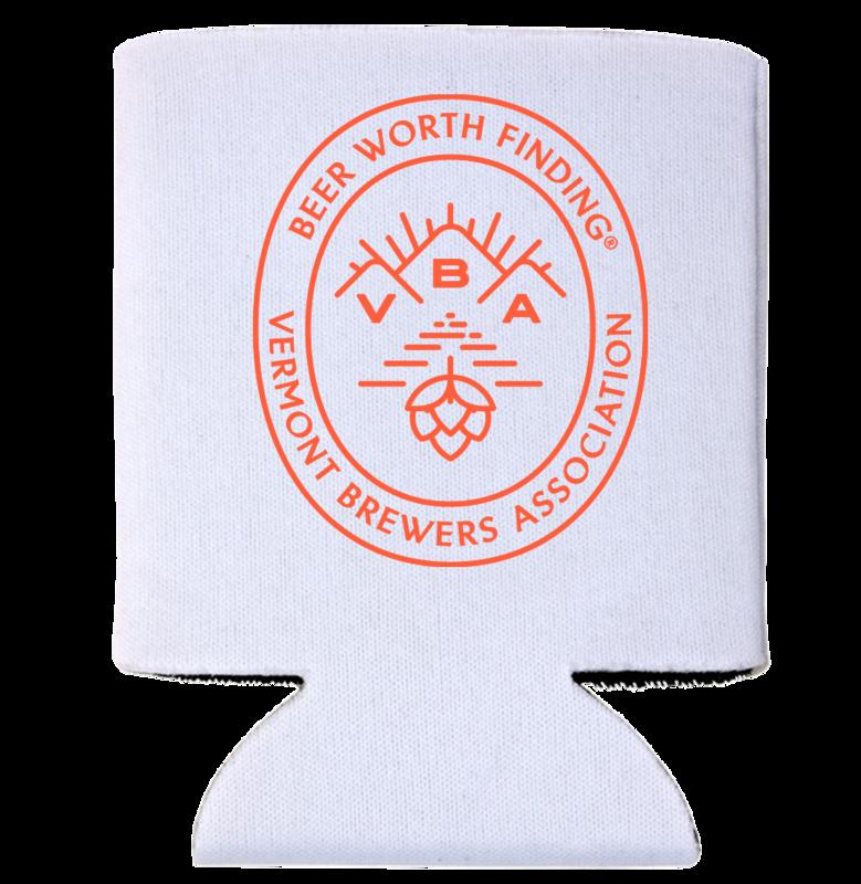 VT Brewers VBA Branded Can Holder in White
