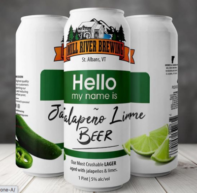 Mill River Brewing Hello My Name Is Jalapeno – Lime Beer 4-Pack