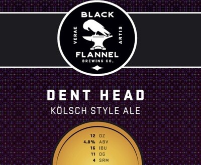 Black Flannel Brewing Co. Dent Head Single 16oz Can