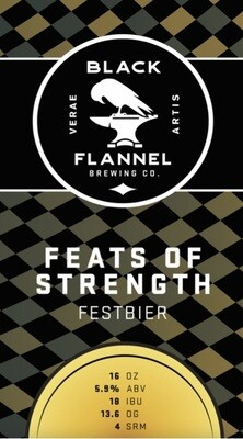 Black Flannel Brewing Co. Feats of Strength - Festbier Single 16oz Can