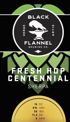 Black Flannel Brewing Co. Fresh Hop Centennial - Pale Ale 4-Pack