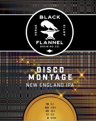 Black Flannel Brewing Co. Disco Montage Single 16oz Can