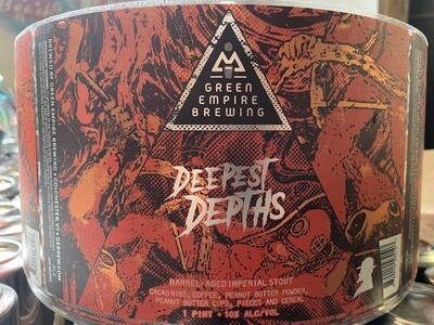 Green Empire Brewing Deepest Depths Barrel Aged Imperial Stout 4-Pack