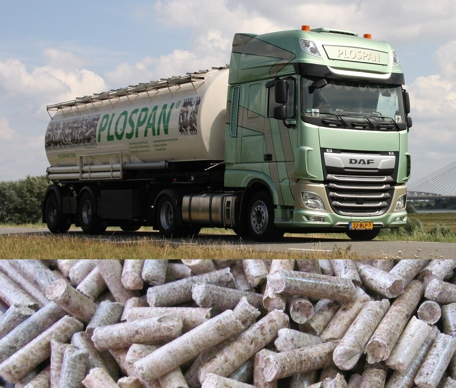 """Plospan Houtpellets bulk """"Mix"""" A1 per ton exclusief vrachtkosten. LET OP: Transportkosten zijn afhankelijk van het bestelde volume.  Meer volume = een lagere transportprijs per ton."""