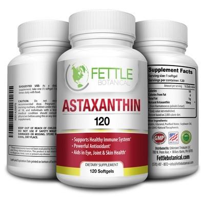 Astaxanthin 120 Softgels 10mg Supplement Strong Carotenoid