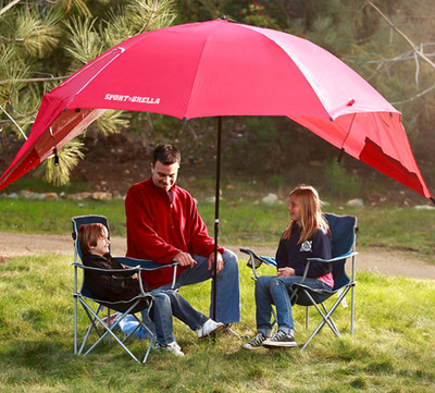 Raudonos  spalvos skėtis-pavėsinė SPORT-BRELLA