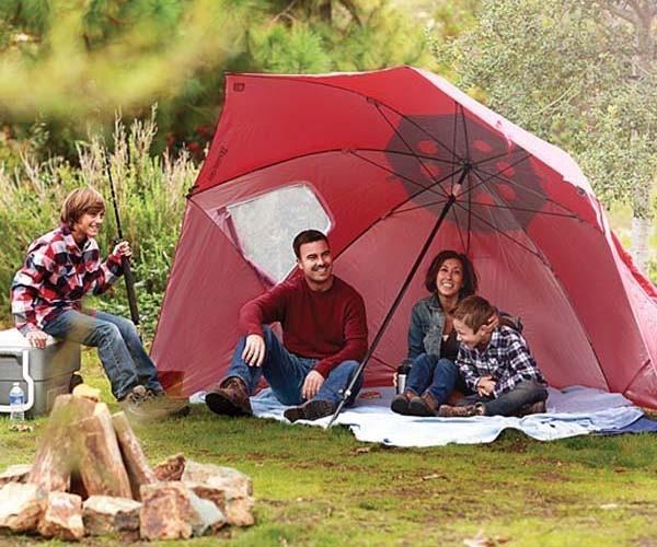 Raudonos spalvos skėtis-pavėsinė SPORT-BRELLA XL