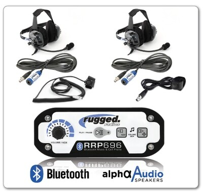Rugged Radio 696 Intercom w/ Headsets