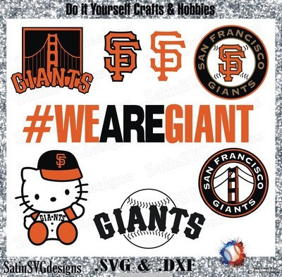 San Francisco Giants Baseball Set Design SVG Files, Cricut, Silhouette Studio, Digital Cut Files