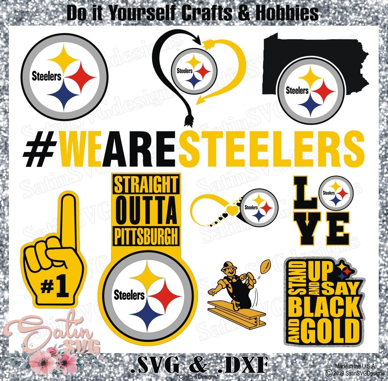 Pittsburgh Steelers Logo SET Design SVG Files, Cricut, Silhouette Studio, Digital Cut Files