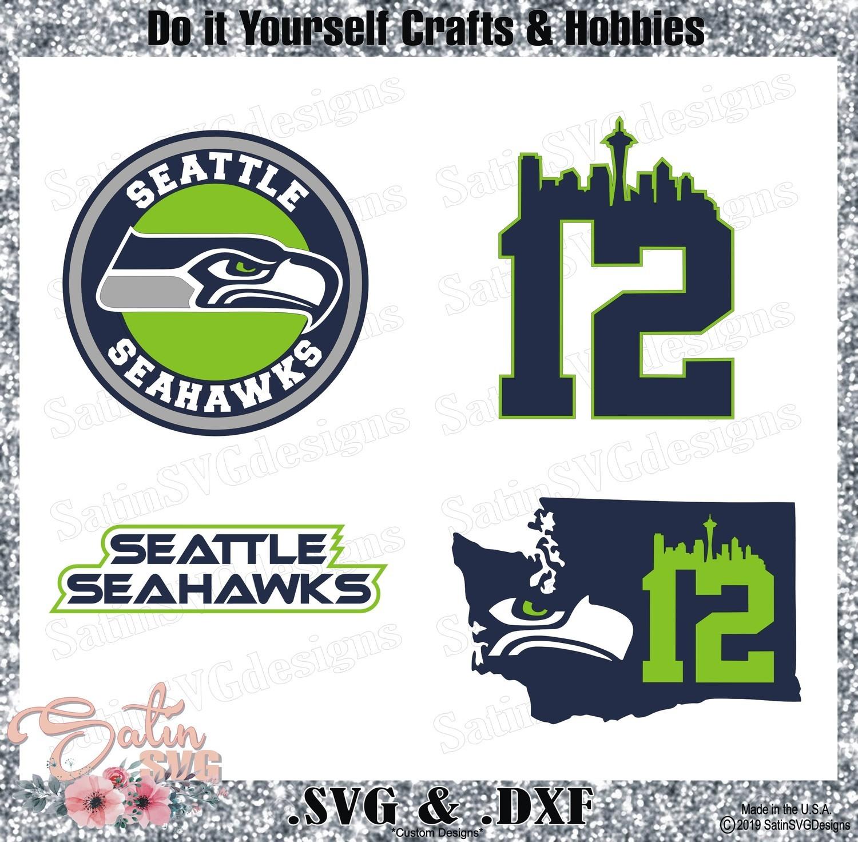 Seattle Seahawks SET2 Design SVG Files, Cricut, Silhouette Studio, Digital Cut Files