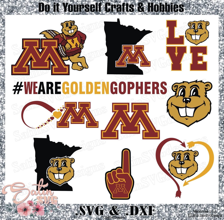 Minnesota Golden Gophers Set Design SVG Files, Cricut, Silhouette Studio, Digital Cut Files