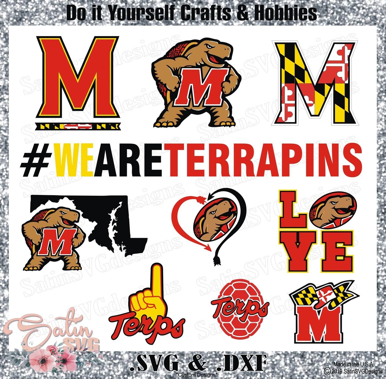 Maryland Terrapins Set Design SVG Files, Cricut, Silhouette Studio, Digital Cut Files