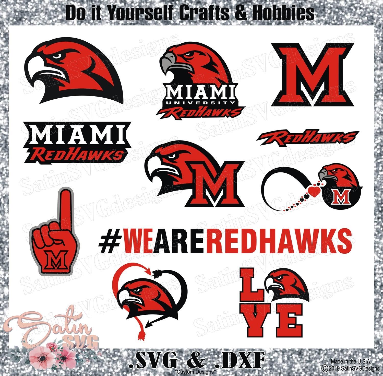 Miami Redhawks Set Design SVG Files, Cricut, Silhouette Studio, Digital Cut Files
