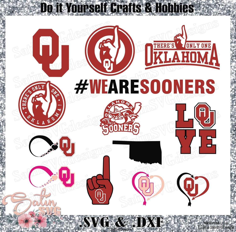 Oklahoma Sooners Set Design SVG Files, Cricut, Silhouette Studio, Digital Cut Files