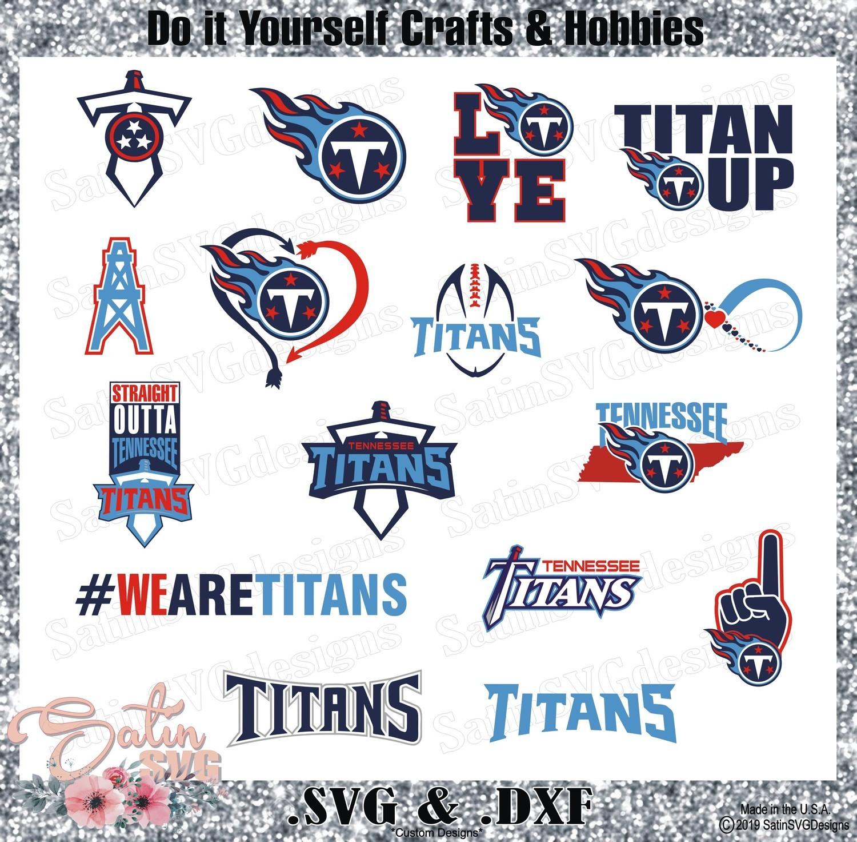 Tennessee Titans Set Design SVG Files, Cricut, Silhouette Studio, Digital Cut Files