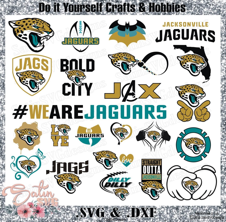 Jacksonville Jaguars Set Design SVG Files, Cricut, Silhouette Studio, Digital Cut Files