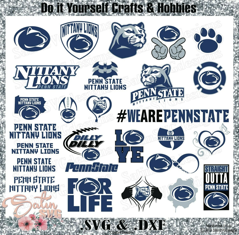 Penn State Nittany Lions Set Design SVG Files, Cricut, Silhouette Studio, Digital Cut Files