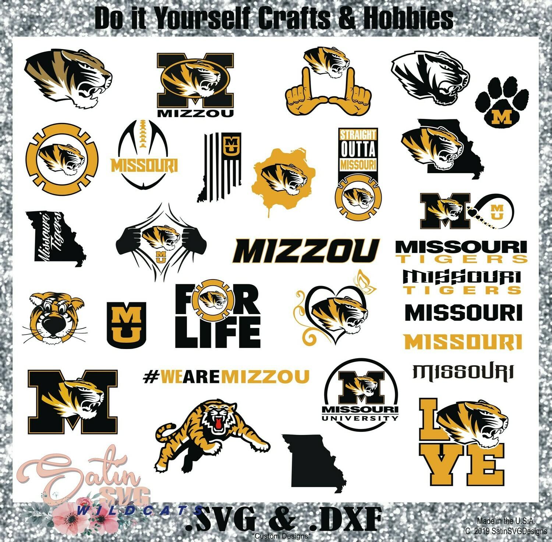 Missouri Tigers SET NEW Design SVG Files, Cricut, Silhouette Studio, Digital Cut Files
