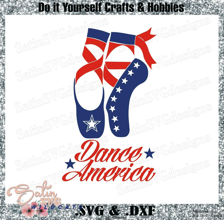 4th OF July - Dance America Design SVG Files, Cricut, Silhouette Studio, Digital Cut Files
