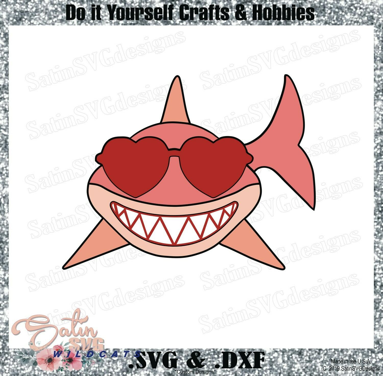 Shark Shades Cool Design SVG Files, Cricut, Silhouette Studio, Digital Cut Files