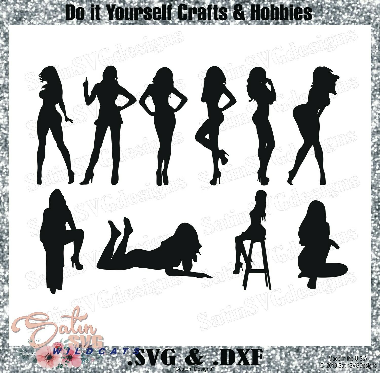 SEXY LADIES SET Design SVG Files, Cricut, Silhouette Studio, Digital Cut Files