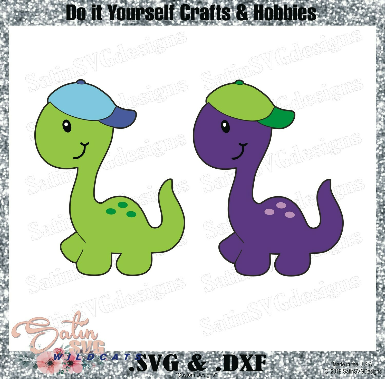 LIL DINO Hat Set Design SVG Files, Cricut, Silhouette Studio, Digital Cut Files