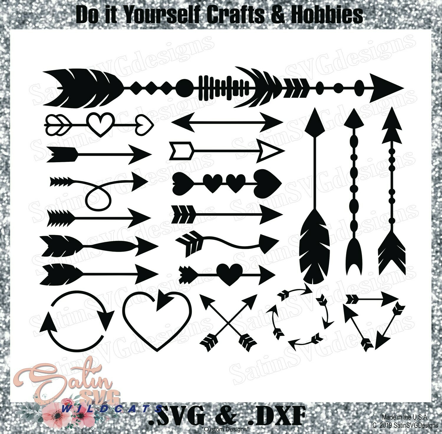 Arrows Elements Design SVG Files, Cricut, Silhouette Studio, Digital Cut Files