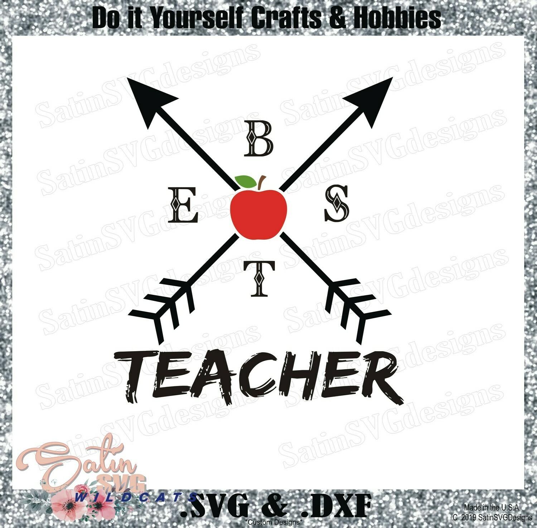 Best Teacher Design SVG Files, Cricut, Silhouette Studio, Digital Cut Files