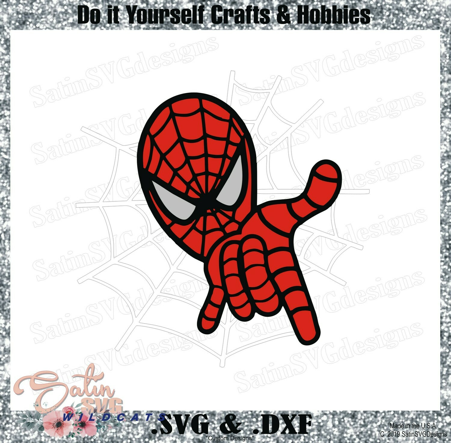 SPIDERMAN-Web-Spin Marvel Design SVG Files, Cricut, Silhouette Studio, Digital Cut Files