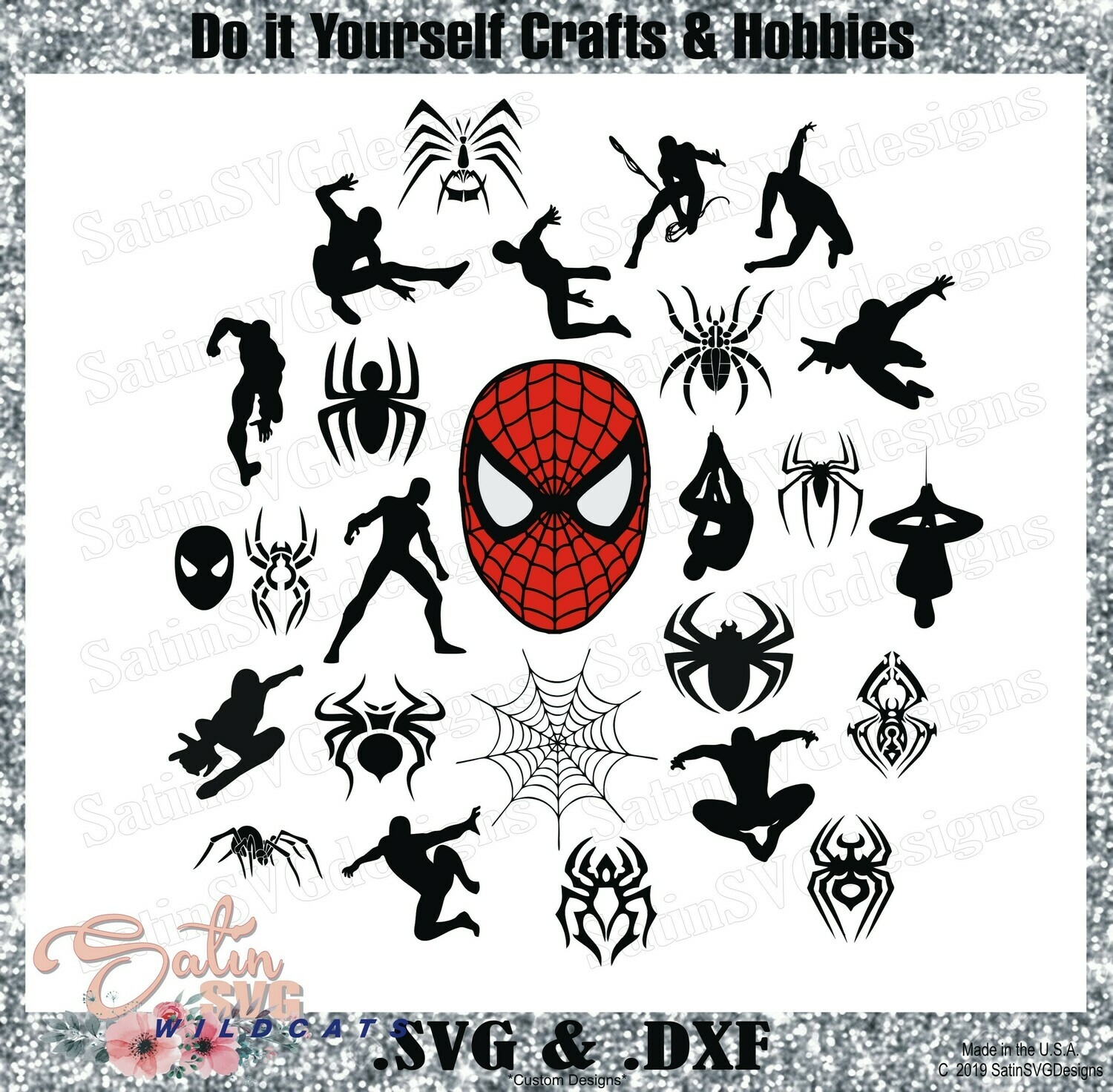 SPIDERMAN-Collection Marvel Design SVG Files, Cricut, Silhouette Studio, Digital Cut Files