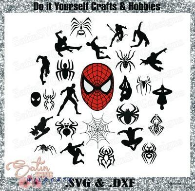 SPIDERMAN-Collection Marvel Design SVG Files, Cricut, Silhouette Studio, Digital Cut Files