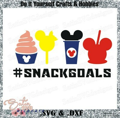 Mickey Snackgoals Set Designs SVG Files, Cricut, Silhouette Studio, Digital Cut Files
