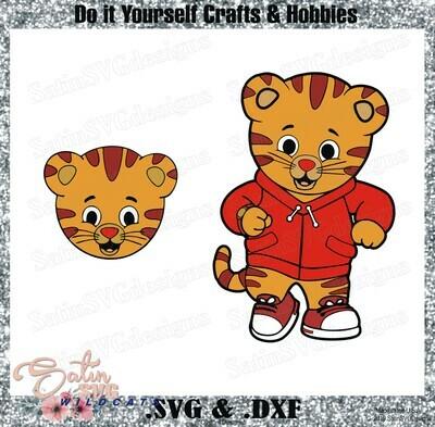 Daniel Tiger Design SVG Files, Cricut, Silhouette Studio, Digital Cut Files
