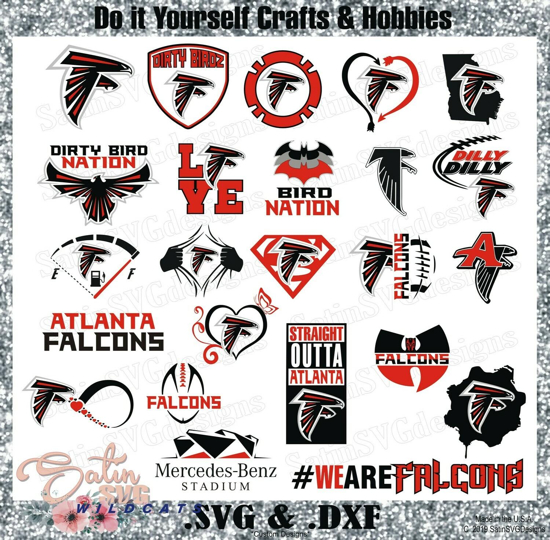 Atlanta Falcons Set NEW Design SVG Files, Cricut, Silhouette Studio, Digital Cut Files
