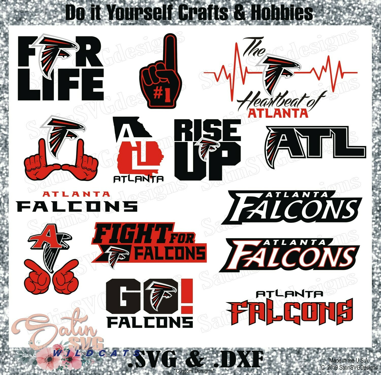 Atlanta Falcons Set2 NEW Design SVG Files, Cricut, Silhouette Studio, Digital Cut Files