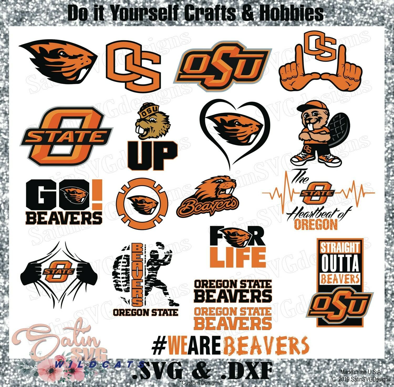 Oregon State Beavers NEW Custom University Designs. SVG Files, Cricut, Silhouette Studio, Digital Cut Files, Infusible Ink