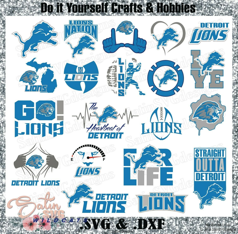 Detroit Lions Set Upgrade Design SVG Files, Cricut, Silhouette Studio, Digital Cut Files