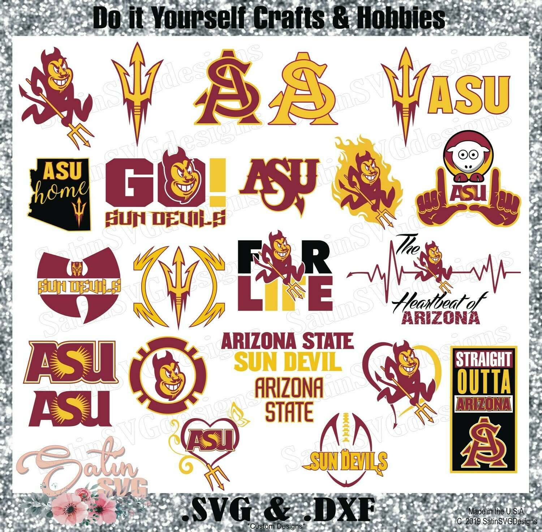 Arizona State Sun Devils NEW Custom University Designs. SVG Files, Cricut, Silhouette Studio, Digital Cut Files, Infusible Ink