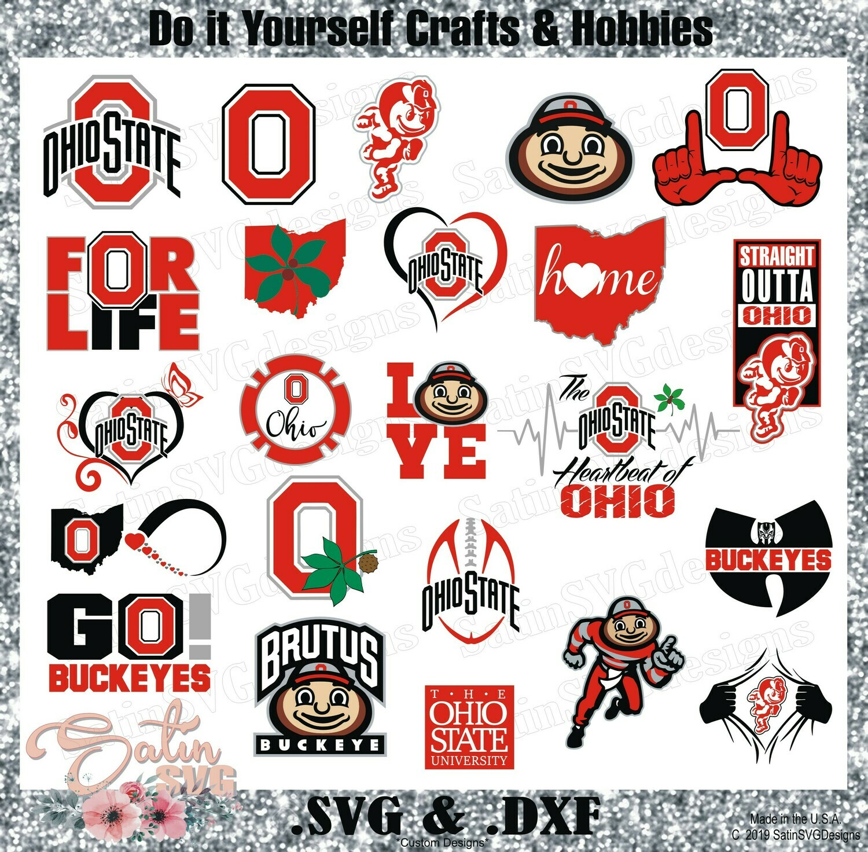 Ohio State Buckeyes NEW Custom Central Florida University Designs. SVG Files, Cricut, Silhouette Studio, Digital Cut Files, Infusible Ink
