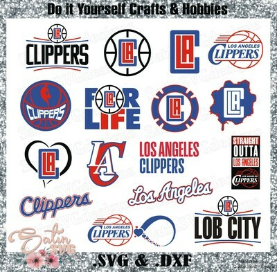Los Angeles Clippers NEW Custom NBA Designs. SVG Files, Cricut, Silhouette Studio, Digital Cut Files, Infusible Ink
