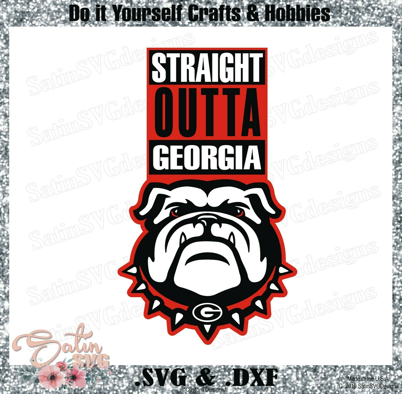 Georgia Bulldogs UGA Str8 Outta Set Design SVG Files, Cricut, Silhouette Studio, Digital Cut Files