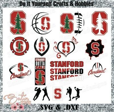 Stanford Cardinal, Stanford University NEW Custom Designs. SVG Files, Cricut, Silhouette Studio, Digital Cut Files, Infusible Ink