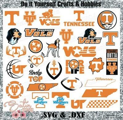 Tennessee Volunteers, Tennessee Vols University NEW Custom Designs. SVG Files, Cricut, Silhouette Studio, Digital Cut Files, Infusible Ink