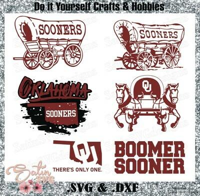 Oklahoma Sooners, Oklahoma University NEW Custom Designs. SVG Files, Cricut, Silhouette Studio, Digital Cut Files, Infusible Ink