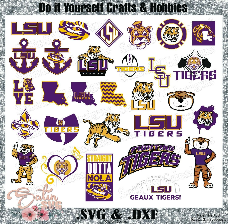 LSU Tigers Louisiana State University NEW Design SVG Files, Cricut, Silhouette Studio, Digital Cut Files