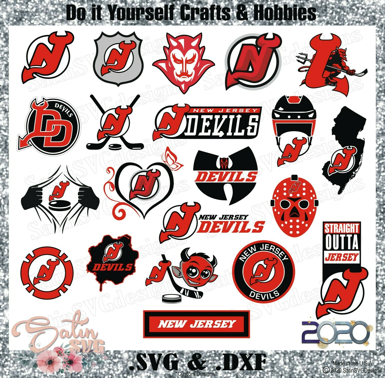 New Jersey Devils NEW Custom NHL Hockey Designs. SVG Files, Cricut, Silhouette Studio, Digital Cut Files, Infusible Ink