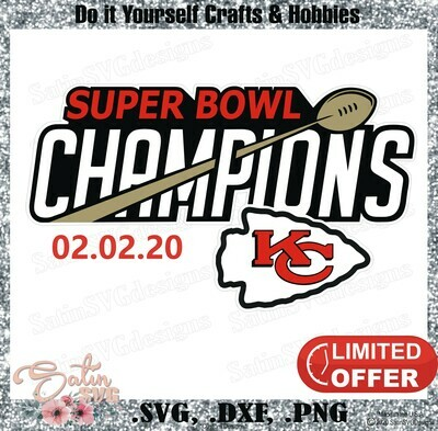 Kansas City Chiefs, Super Bowl NEW Custom Designs. SVG Files, Cricut, Silhouette Studio, Digital Cut Files, Infusible Ink
